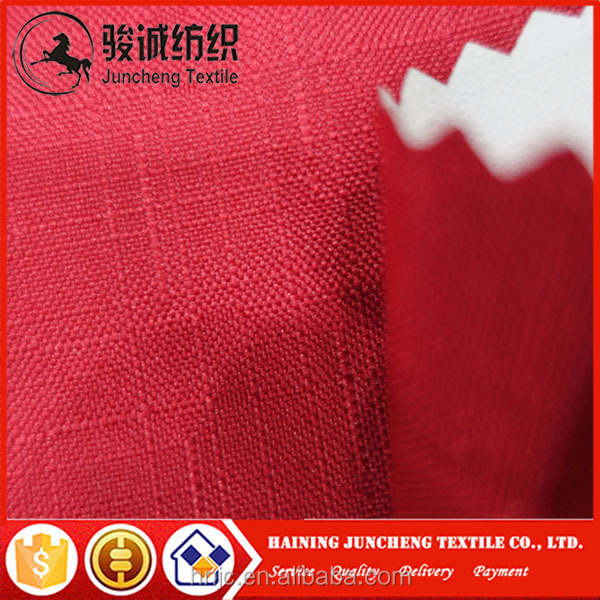 Waterproof stain repellent good quality slub fabric cheap outdoor upholstery fabric for sofa