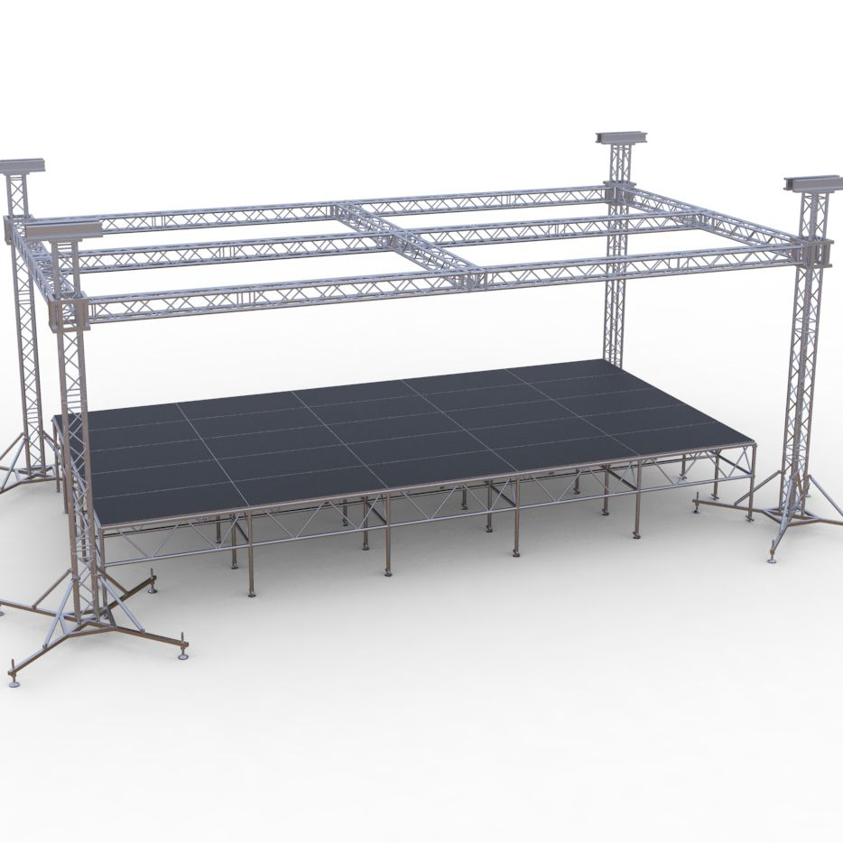 outdoor flat roof truss with <strong>stage</strong>
