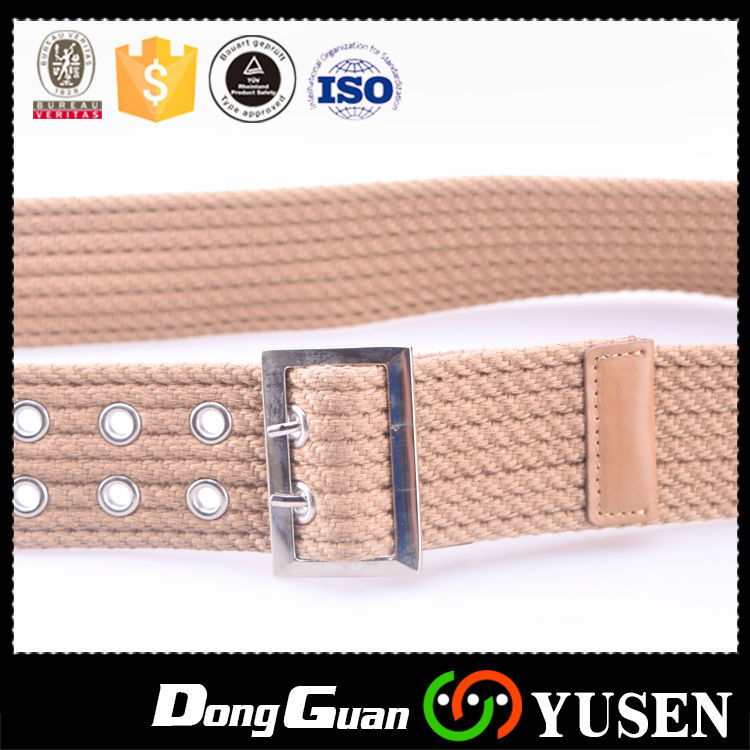 Adjustable Mens Black Military Canvas Web Fabric Cotton Web Belt