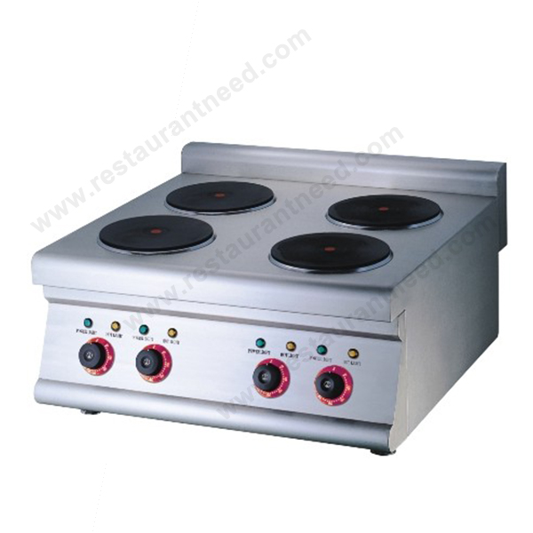 Hot Selling Europe Design Hot Rolled Steel Plate K017 Commercial 4 Burner Electric Cooktop