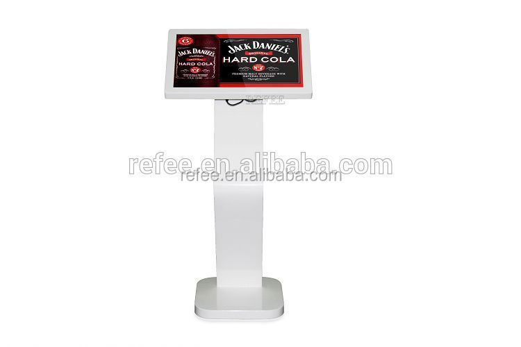 Refee 22 inch Floor stand 3G/terminal printer / camera available HDMI/VGA/USB digital signage stand, network advertising player