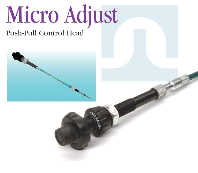 universal control cable with adjustable control heads