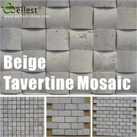 outdoor Beige natural stone travertine marble mosaic