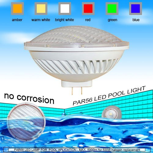 500w par56 led replacement 5000lm par56 54watt 35watt led - Swimming pool light bulbs halogen ...