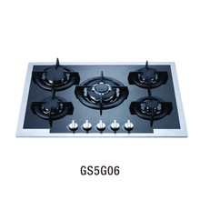 2016 hot sale GS5G06 Factory Tempered glass gas stove/gas cooktop parts/free standing gas stove