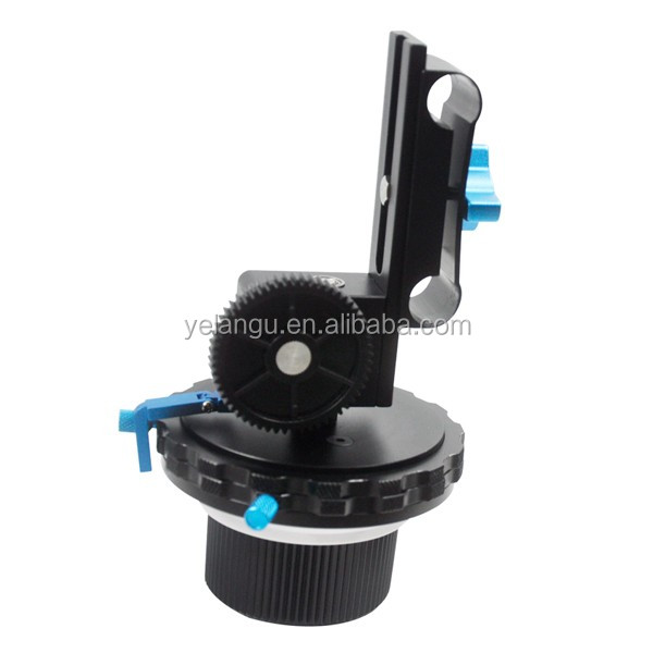 YELANGU Quick Release Follow Focus With Gear Ring For DSLR Cameras