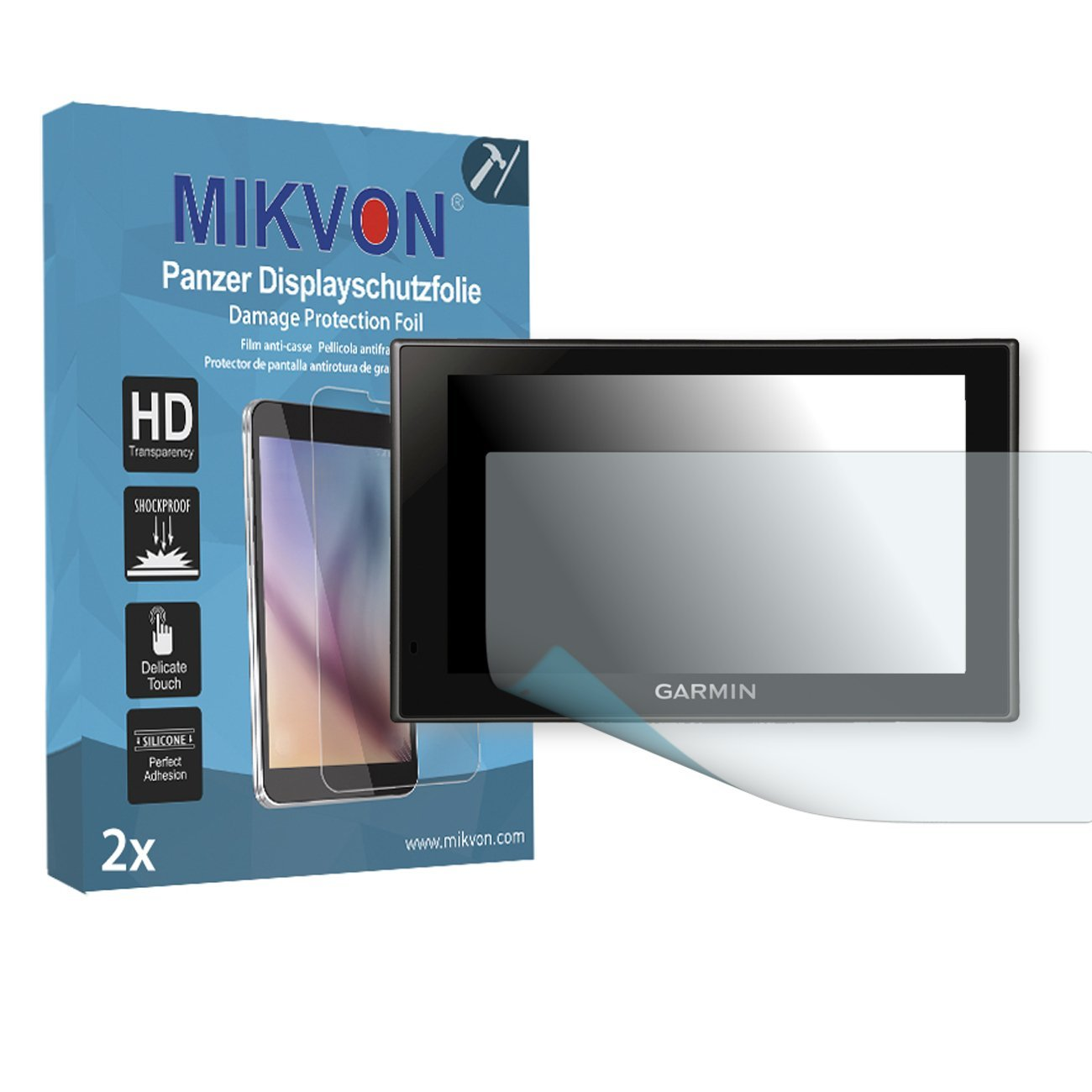 2x Mikvon Armor Screen Protector for Garmin Camper 660 LMT screen fracture protection film - Retail Package with accessories