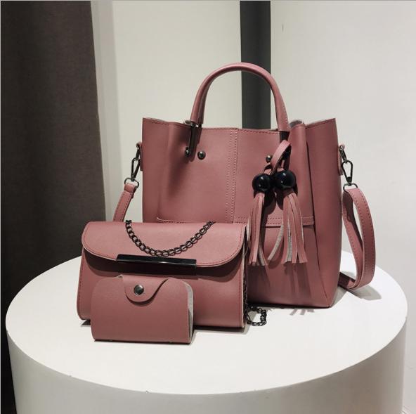 423a260ec882 3/1 шт PU сумка набор элегантные женские сумки оптом дамы кошелек дамы pars  ручной