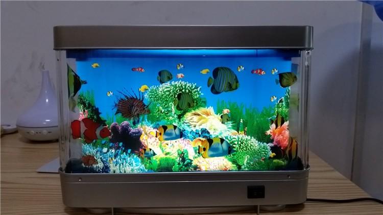 Office/home Decorations Intelligent Led Light Fake Fish Tank ...