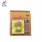 Wholesale 4colors crayons and coloring books stationery set in blister packing for school children