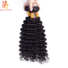 The best hair vendors virgin deep wave hair bundles with lace front closure hair apply