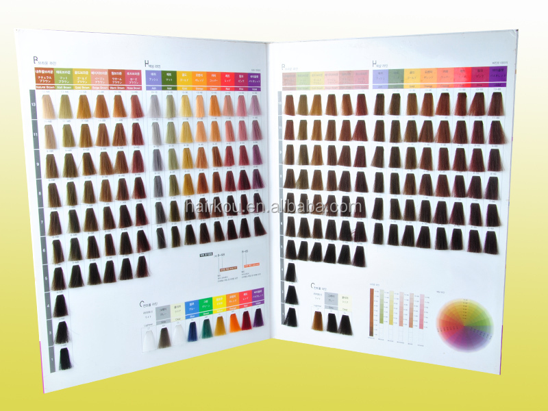 salon professional hair color dye chart - Color Swatch Book