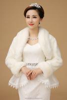 Bride Shrug Faux Fur Bridal Shawl Dress Cape Coat