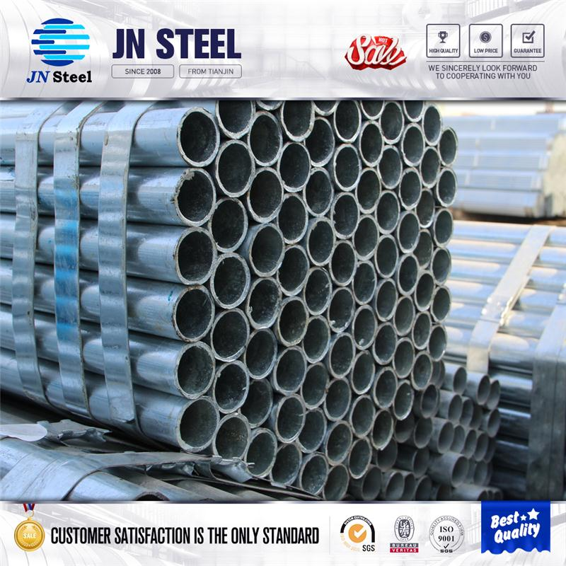 Tianjin erw Hot dipped gi pipe pre galvanized steel pipe galvanised tube