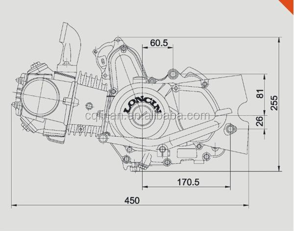 Loncin Electric Start Manual Clutch Loncin 125cc Engine  Buy Loncin 125cc Engine Manual Clutch