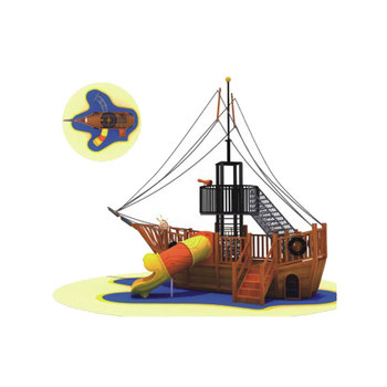 Approved School Newest Kids Outdoor Playground Pirate Ship ...