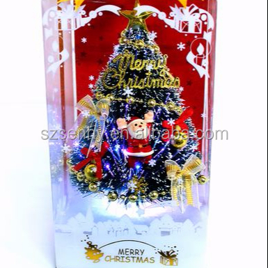 8 Inches mini tabletop led USB christmas tree