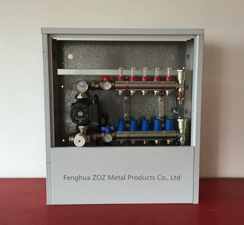 Brass Radiant Floor Heating Manifold For Pex Heating