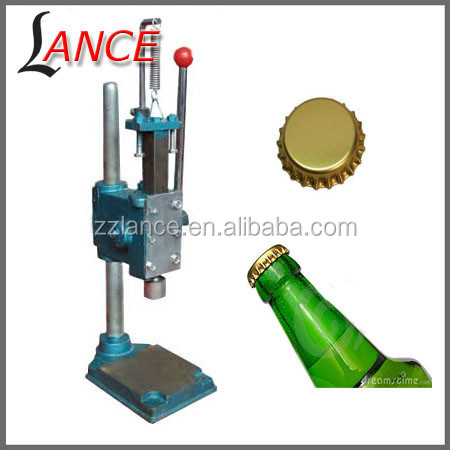 Lance manual bottle capping machine/beer bottle capping machine.