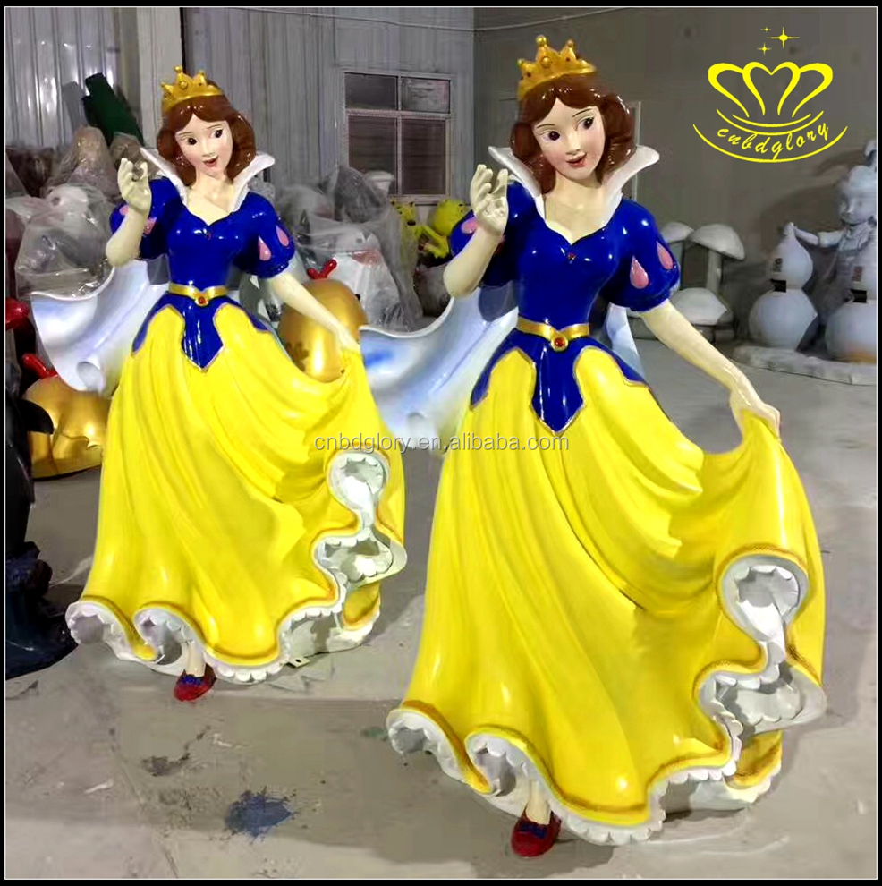 Handwork customized life size resin cartoon statue Snow White and the dwarfs