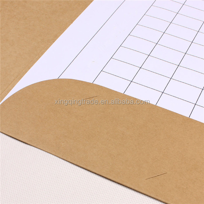 A4 paper file folder with pocket white kraft and black colors to chose Size 31*44cm