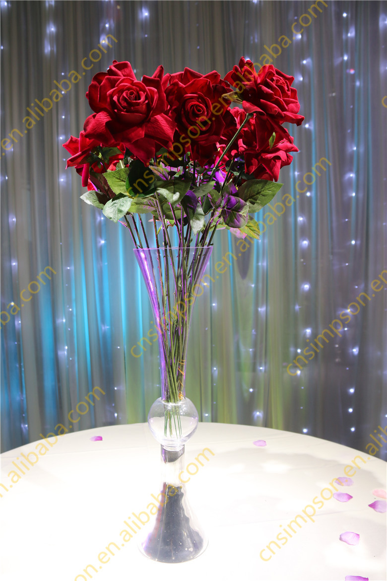 Wholesale Wedding Glass Vase Centerpieces Clear Reversible Trumpet Glass Vase Buy Tall Trumpet