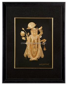 1d25e1c48be3 Direct factory supply 3D Craft Art Indian God 24K gold foil frame for  decoration or collection