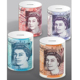 British Pounds design Various country currency design ceramic piggy bank money saving box