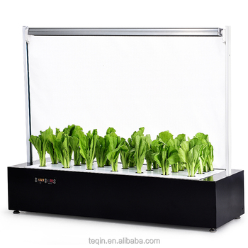 Led Hydropopnics Seedling Growing Tray Mini Indoor Home Garden Plants Grow Kits