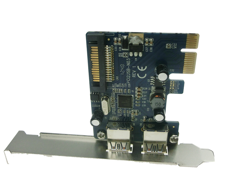 Wholesale 2 PORT USB3.0 PCIe card PCIe to USB 3.0 adatper 15pin ...