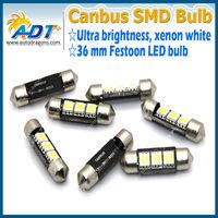 Xenon white36mm festoon canbus error warning licese plate light dome light