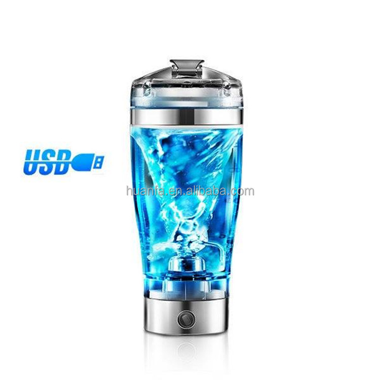 Powerful And Portable 450ML USB Rechargeable Electric Automatic Protein Mixer Shaker Bottle Great For Gift