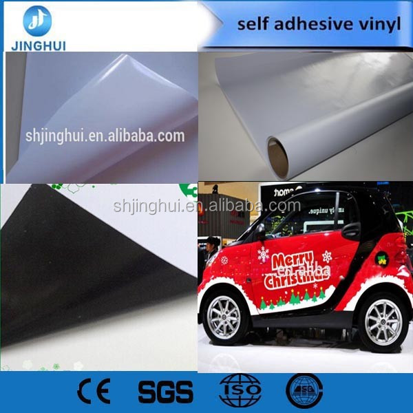 White 3D carbon fiber car protective sticker, car body vinyl wrap film with air channel