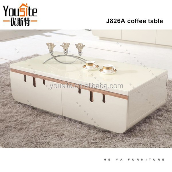 Victorian Living Room Furniture Wooden Tablet Stand Modern Coffee Table J826A