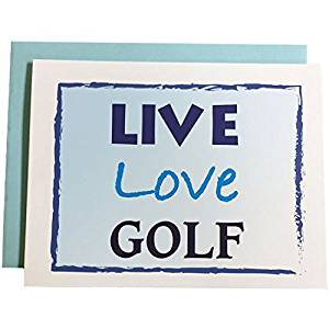 Cheap golf business cards find golf business cards deals on line at get quotations giggle golf live love golf note cards 6 boxed cards and envelopes colourmoves