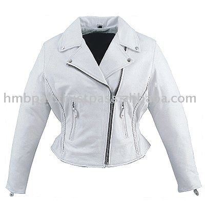 White Leather Jackets For Women - Jacket