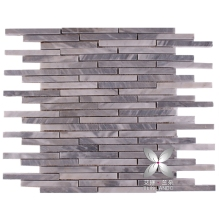 Balcony wall designs bamboo strip bardiglio gray 1'' tile