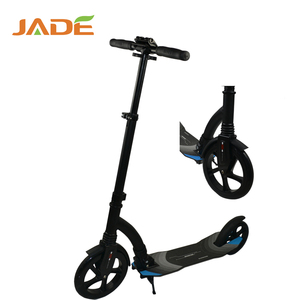 Pro cheap 230mm big front pu 2 wheels urban foldable adult kick scooter