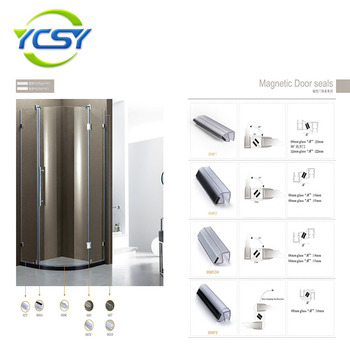 Shower door magnetic strips