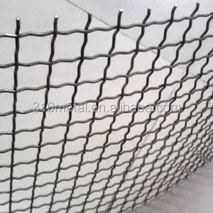 Stainless steel crimped wire mesh sus 304/316/309/310s/314 woven and welding 3mm 4mm