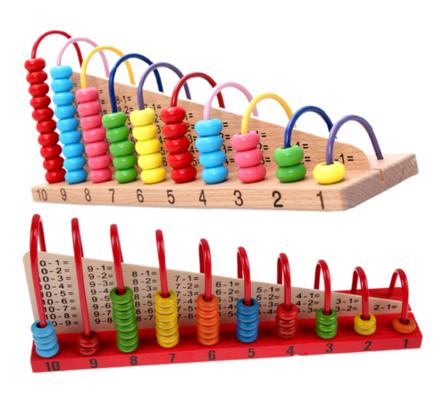 Kids Wooden Toys Child Abacus Counting Beads Maths Learning early Educational Toy Math Toys Gift