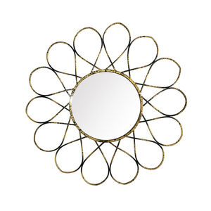 Gold handmade decorative metal hinged wall mounted mirror