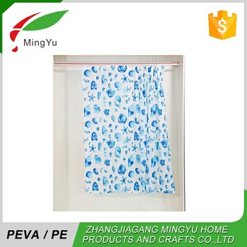 China Local Manufacturer Shower Location Vinyl Curtain Printing