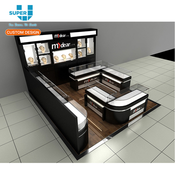 Customized Floor Plan Layout Decoration Jewellery Shops Interior