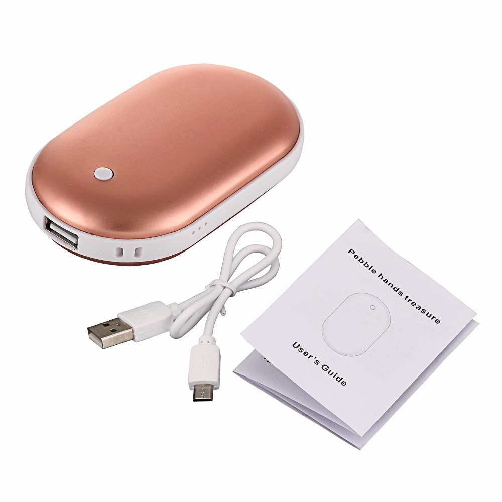 Hand Warmer Power Bank USB Rechargeable Pocket Hand Warmer Portable Electric
