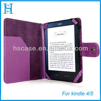 PU Folio Leather Skin Case Passport Cover Wallet Pouch For Amazon Kindle 4 6