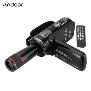 Andoer HDV-Z8 1080P Full HD Digital Video Camera Camcorder 16 Digital Zoom with Digital Rotation LCD Touch D3381-2