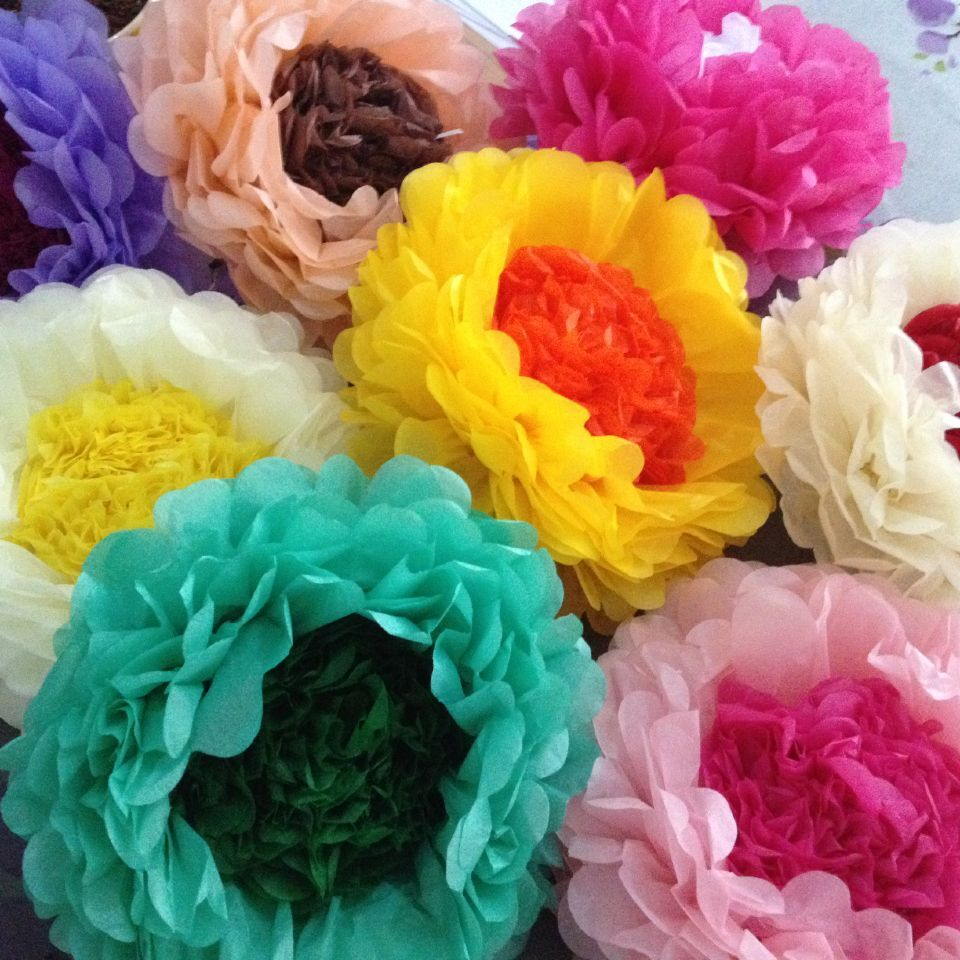 Factory supply wholesale price 12 inch Paper Pom Pom Flower Ball DIY decoration