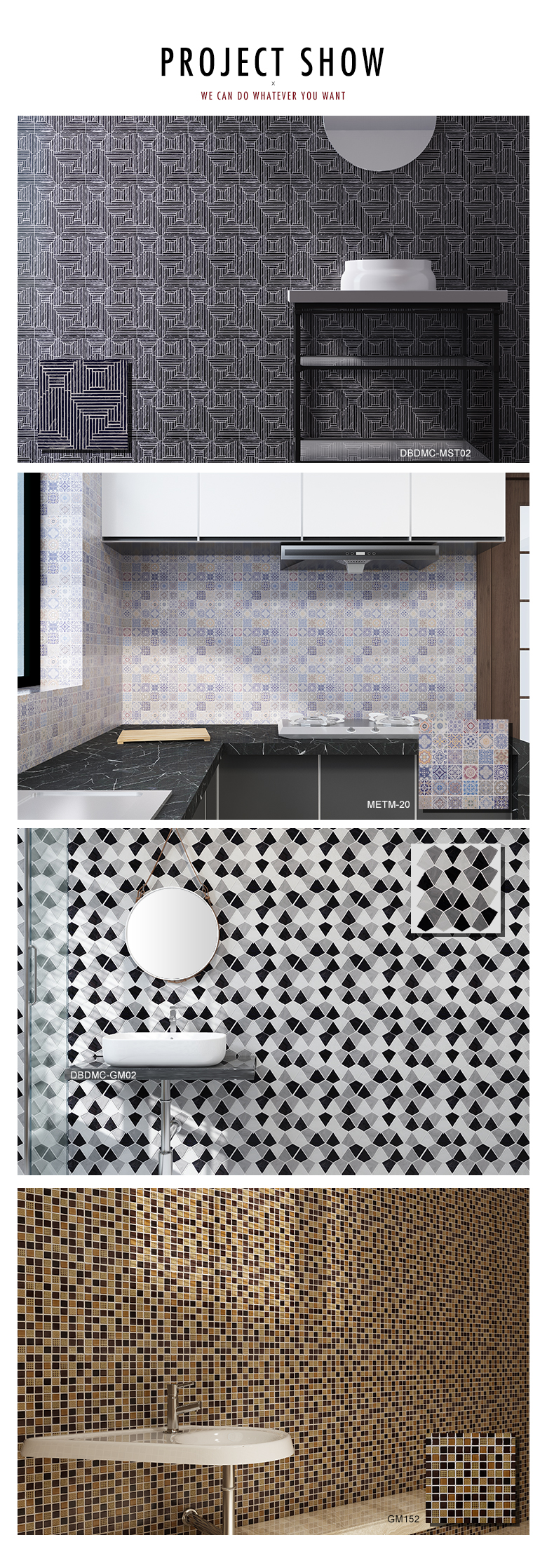 White marble hexagon mosaic for home decoration