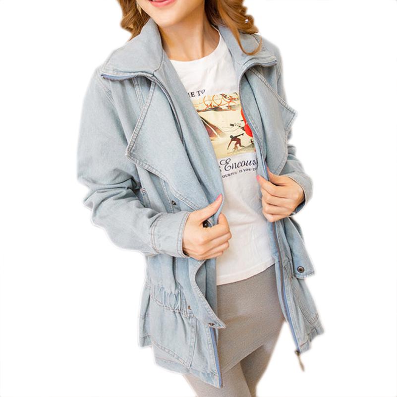 c55e01f2cb55b Get Quotations · Free shipping New fashion winter coat denim fitted denim  long sleeve denim trench coat long coat